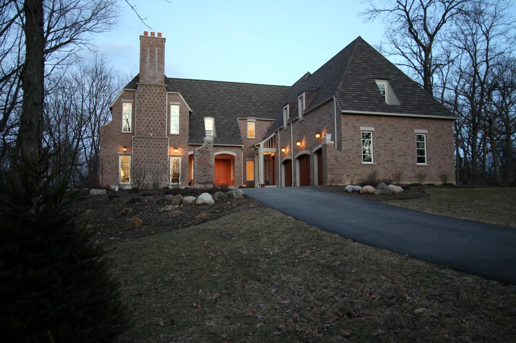 Custom Built Luxury Home Woods Exterior