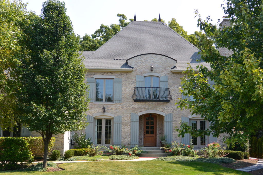 French Provincial Custom Home Front Entry