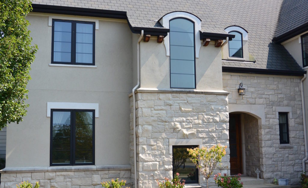 Custom Built Home Front Entry Lakewood IL