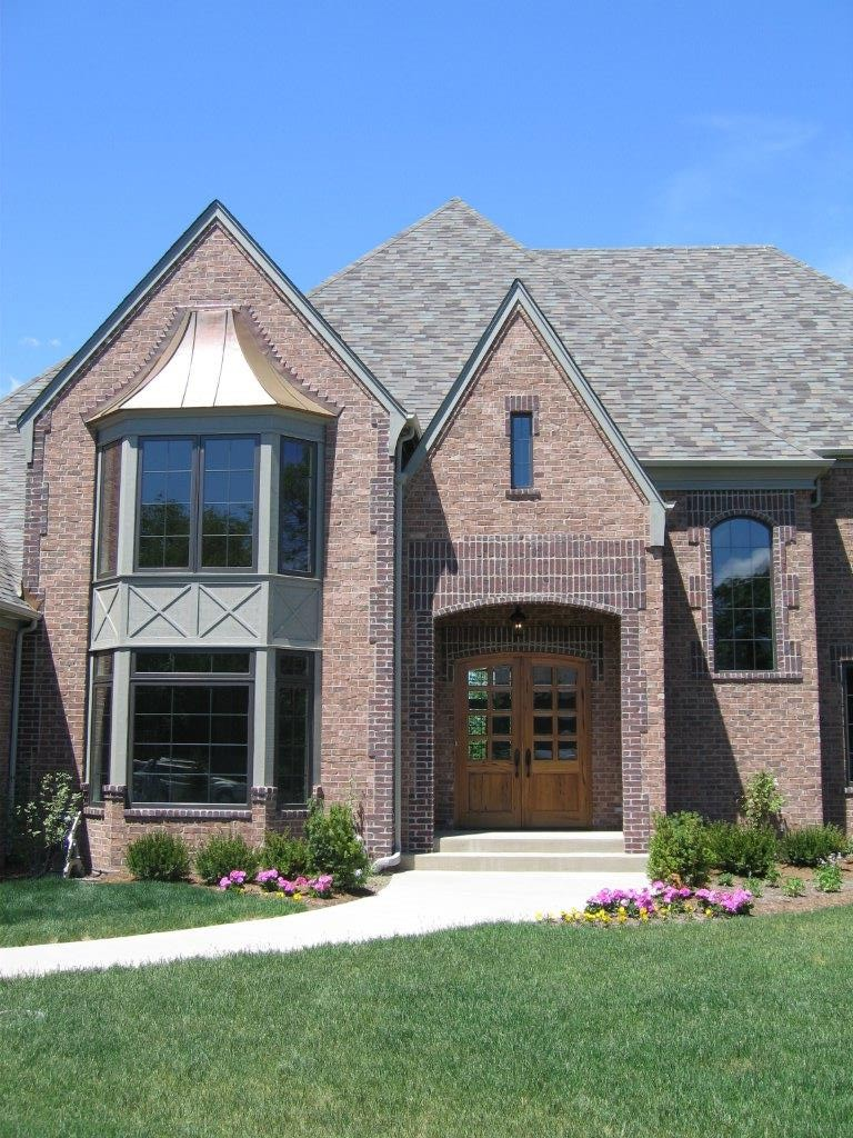 Brick Front Entry Custom Builders Lake Forest